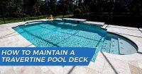 Maintaining Travertine Pool Deck Tampa Bay